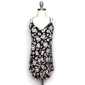 Wet Seal Sunflower Strappy Dress sz L